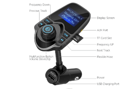 Nulaxy Wireless In-Car FM Transmitter For Iphone