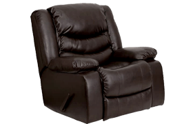 Flash Furniture MEN-DSC01078-BRN-GG Plush Leather Rocker Recliner Review